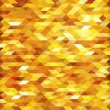Abstrakt guld- lowpoly planlagd vektorbakgrund Polygonal beståndsdelbakgrund Royaltyfri Bild
