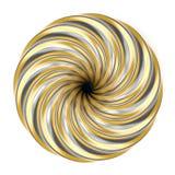 Abstrakt guld- och för silver spiral garnering 3d vektor illustrationer