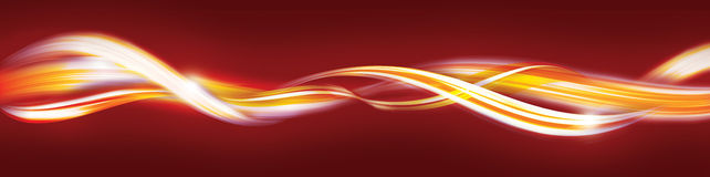 abstrakt guld- röda band Arkivfoton