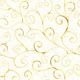 Abstrakt guld- sömlös modell för lyx Arkivfoton