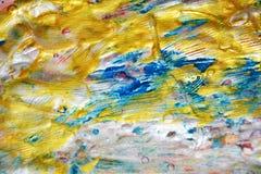 Abstrakt guld- silvertextur, vaxartad abstrakt bakgrund, livlig bakgrund för vattenfärg, textur Royaltyfria Bilder