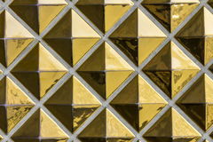 Abstrakt guld- tegelplattamodell - Art Deco Abstract Gold Pattern med Fotografering för Bildbyråer