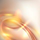 Abstrakt guld- virvelbakgrund vektor illustrationer