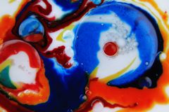 Abstrakt Gulgocze Makro- Zdjęcia Royalty Free