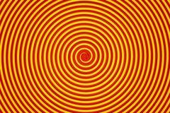 Abstrakt guling- och apelsinspiral Fotografering för Bildbyråer