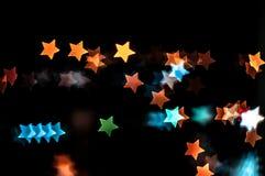 Abstrakt gwiazdy kształta bokeh tło Kuala Lumpur Obraz Stock