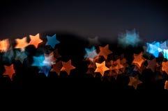 Abstrakt gwiazdy kształta bokeh tło Kuala Lumpur Obrazy Royalty Free
