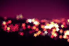 Abstrakt gwiazdy kształta bokeh tło Kuala Lumpur Zdjęcia Royalty Free
