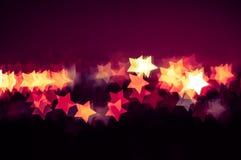 Abstrakt gwiazdy kształta bokeh tło Kuala Lumpur Fotografia Stock