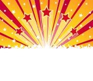 Abstrakt gwiazdy wybuchu tło Halftone wektoru tło Zdjęcia Royalty Free