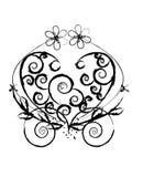 abstrakt härlig dekorativ swirl arkivbild