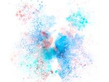 Abstrakt härlig färgrik bakgrund för vattenfärgmålningillustration och texturbakgrund stock illustrationer