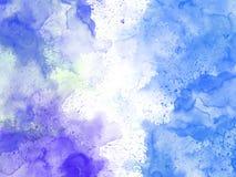 Abstrakt härlig färgrik vattenfärgmålningbakgrund, färgrik borstebakgrund Fotografering för Bildbyråer