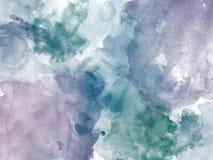 Abstrakt härlig färgrik vattenfärgmålningbakgrund, färgrik borstebakgrund Royaltyfria Bilder