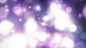 Abstrakt härlig video för bokehbakgrundsrörelse Gnistrandesignalljusbakgrund Modern bakgrund av berömflyttningen Purpur bokeh lager videofilmer