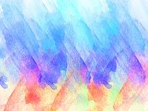Abstrakt härligt färgrikt på den vattenfärgmålningbakgrund och bakgrunden stock illustrationer