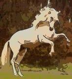 abstrakt häst Arkivfoto