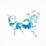 abstrakt häst Arkivbild