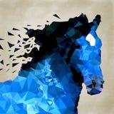 Abstrakt häst av geometrisk form, symbol Arkivfoton