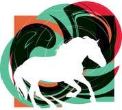 abstrakt hästsilhouettes Royaltyfri Bild