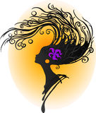 abstrakt hår Royaltyfri Fotografi