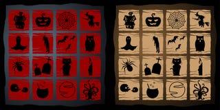 Abstrakt Halloween, ikony pojęcie obrazy stock