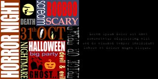 Abstrakt Halloween, szablonu tło obraz royalty free