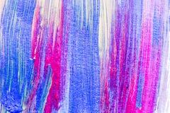 Abstrakt hand dragen akryl som målar idérik konstbakgrund clo Arkivfoton
