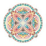 Abstrakt hand dragen mandala vektor illustrationer