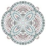 Abstrakt hand dragen mandala stock illustrationer