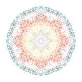 Abstrakt hand dragen mandala royaltyfri illustrationer