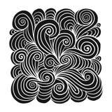 Abstrakt hand dragen prydnad, bakgrund för din design royaltyfri illustrationer