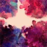 Abstrakt hand dragen vattenfärgbakgrund, vektorillustration, s Arkivbilder