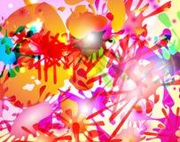Abstrakt hand - gjorda vattenfärgfärgstänk Fotografering för Bildbyråer