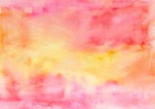 Abstrakt hand målad vattenfärgbakgrund Dekorativ kaotisk färgrik textur för design Hand dragen bild på papper handgjort Royaltyfri Bild