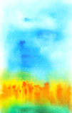 Abstrakt hand tecknad vattenfärgbakgrund Royaltyfri Bild
