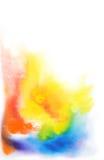 Abstrakt hand tecknad vattenfärgbakgrund Arkivfoton