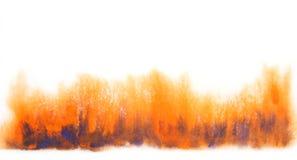 Abstrakt hand tecknad vattenfärgbakgrund Arkivbilder
