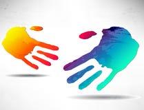 abstrakt handskakning Arkivfoto