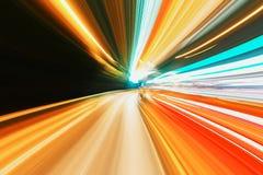 abstrakt hastighet för huvudvägrörelseväg Arkivbild
