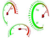 Abstrakt hastighetsmätare stock illustrationer