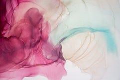 Abstrakt havKONST Naturlig lyx Stil inkorporerar virvlarna av marmor eller krusningarna av agat Mycket h?rlig r?d m?larf?rg stock illustrationer