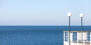 Abstrakt havsbakgrund eller baner Royaltyfria Foton