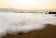 Abstrakt havsolnedgång för natur Arkivfoton