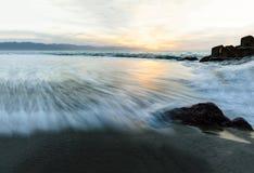 Abstrakt havsolnedgång för natur Arkivbild