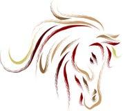 abstrakt head häst vektor illustrationer