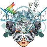 abstrakt head illustrationmedel Arkivfoto