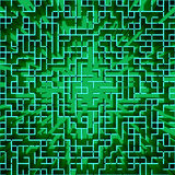 Abstrakt high tech matris-som geometrisk bakgrund Stock Illustrationer