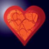 abstrakt hjärta Fotografering för Bildbyråer