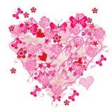 Abstrakt hjärta royaltyfri illustrationer